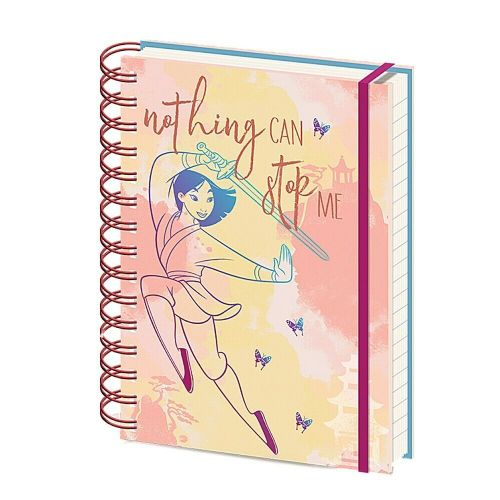 Disney Mulan Nothing Can Stop Me A5 Wiro Notebook Note Pad